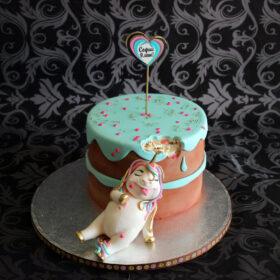 торт с единорогом обжорой